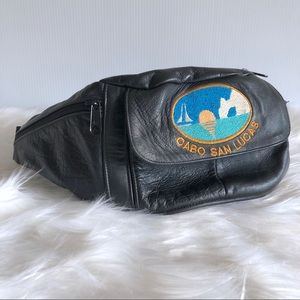 Accessories - Vintage Leather Fanny Pack Belt with Cabo Patch